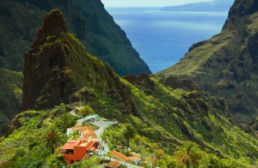 Rustic view of Tenerife mountains