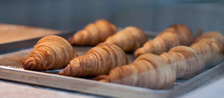 Freshly baked croissants in a Costa Teguise cafe