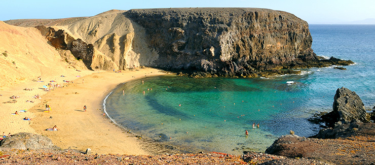 Stunning beach in Lanzarote