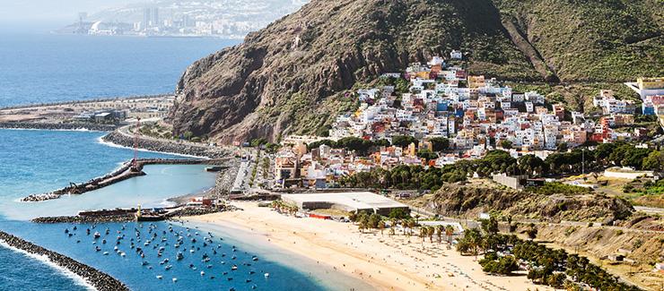 Tenerife white sand beach