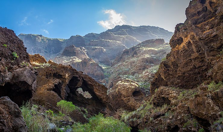 Panoramic view of Tenerife's Cueva del Viento