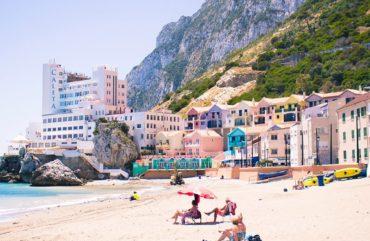 Picturesque view of Gibraltar beach