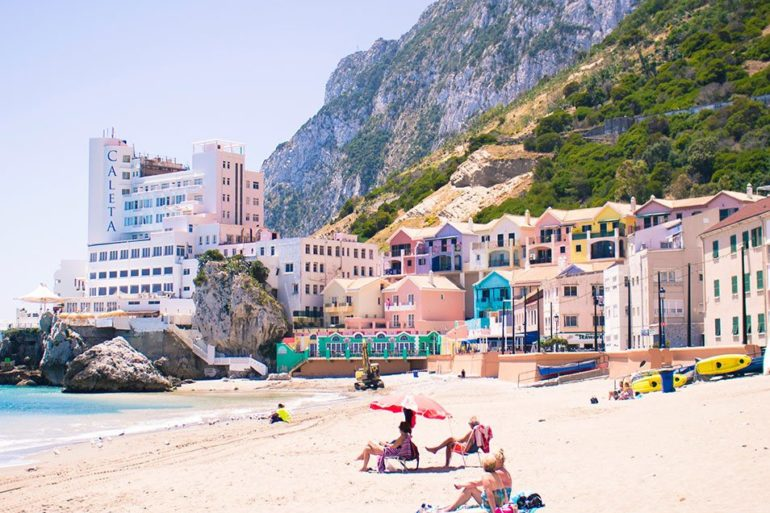 Picturesque view of Gibraltar beach