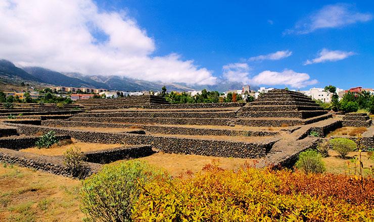 View of Park Pyramids of Güímar in Tenerife
