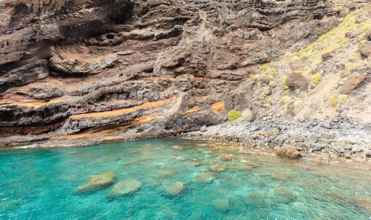 Close up of Masca Valley Bay in Tenerife