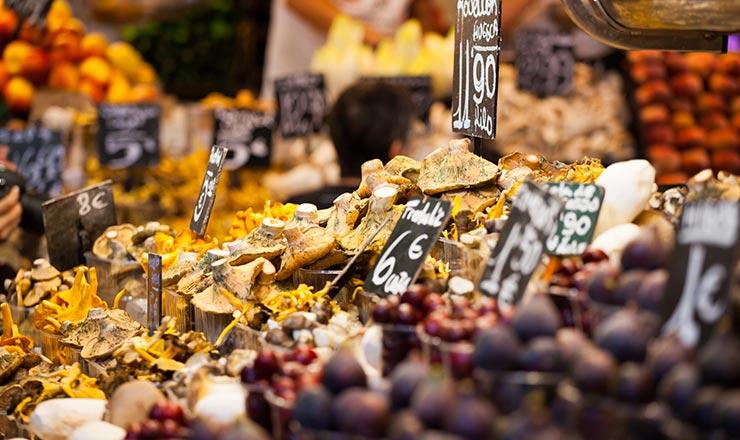 Benidorm food market stall