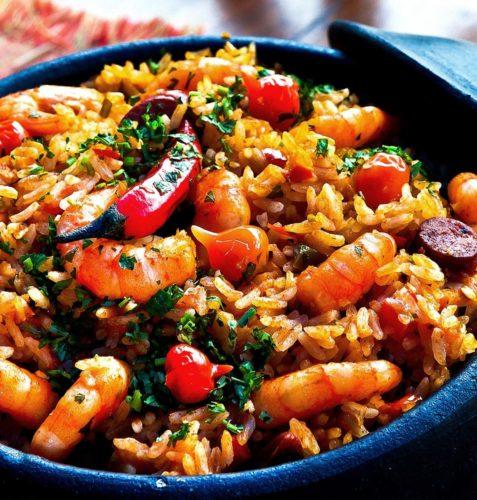 Dish of Paella
